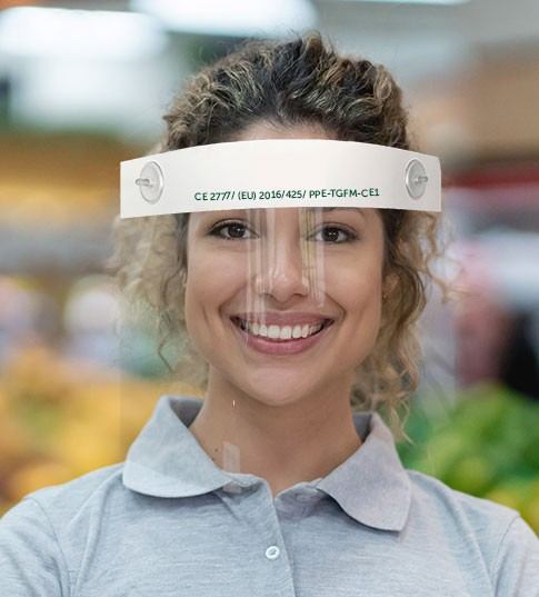 CE Certified Face shield